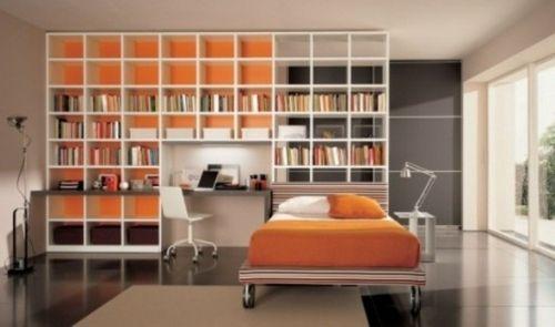 Das orange Schlafzimmer in 42 Beispielen Schlafzimmer 2019 Pinterest - wandfarbe wohnzimmer beispiele