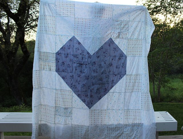 Mother/Daughter Quilt Top | My girlfriend lost her mother to heart disease in her 50s.  She had saved her flannel nightgowns to remind her of her mother.  I took the nightgowns and made them into a quilt top, including pockets, neckline, button plackets.  It is a mother's day surprise for her.