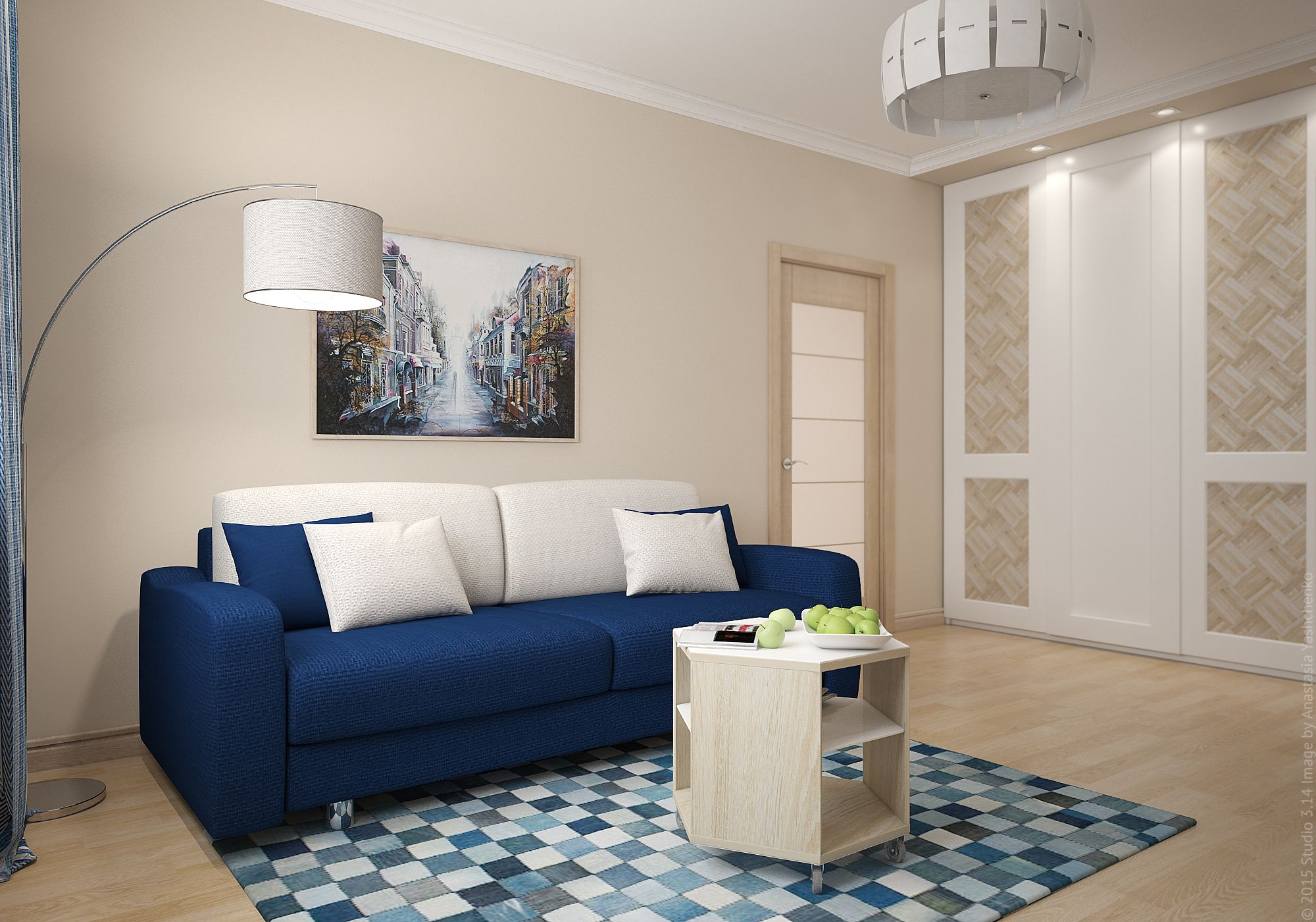 Оформление гостиной в квартире на юго-востоке столицы.