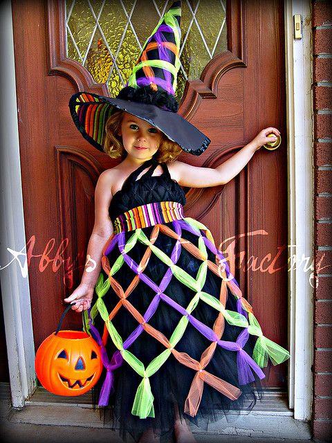 Bewitching Costume- criss cross witch tutu dress