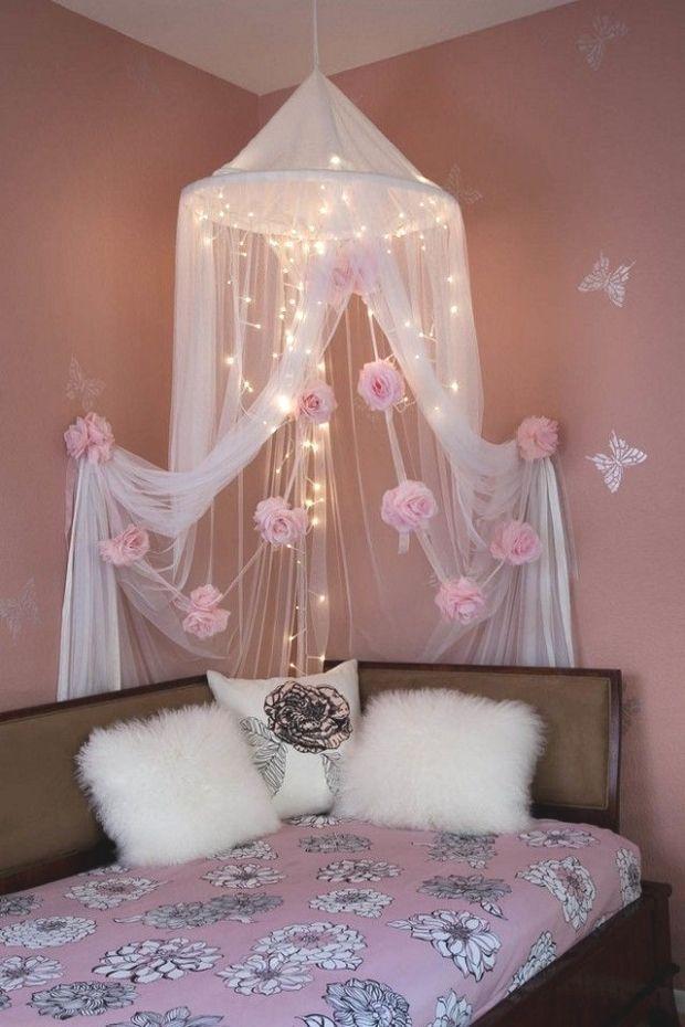 Bett Liebenswert Diy Baldachin Liebenswert Diy Baldachin Bett Mit Den Besten Diy Uberdachung I In 2020 Girls Bedroom Canopy Canopy Bed Diy Bed Canopy With Lights