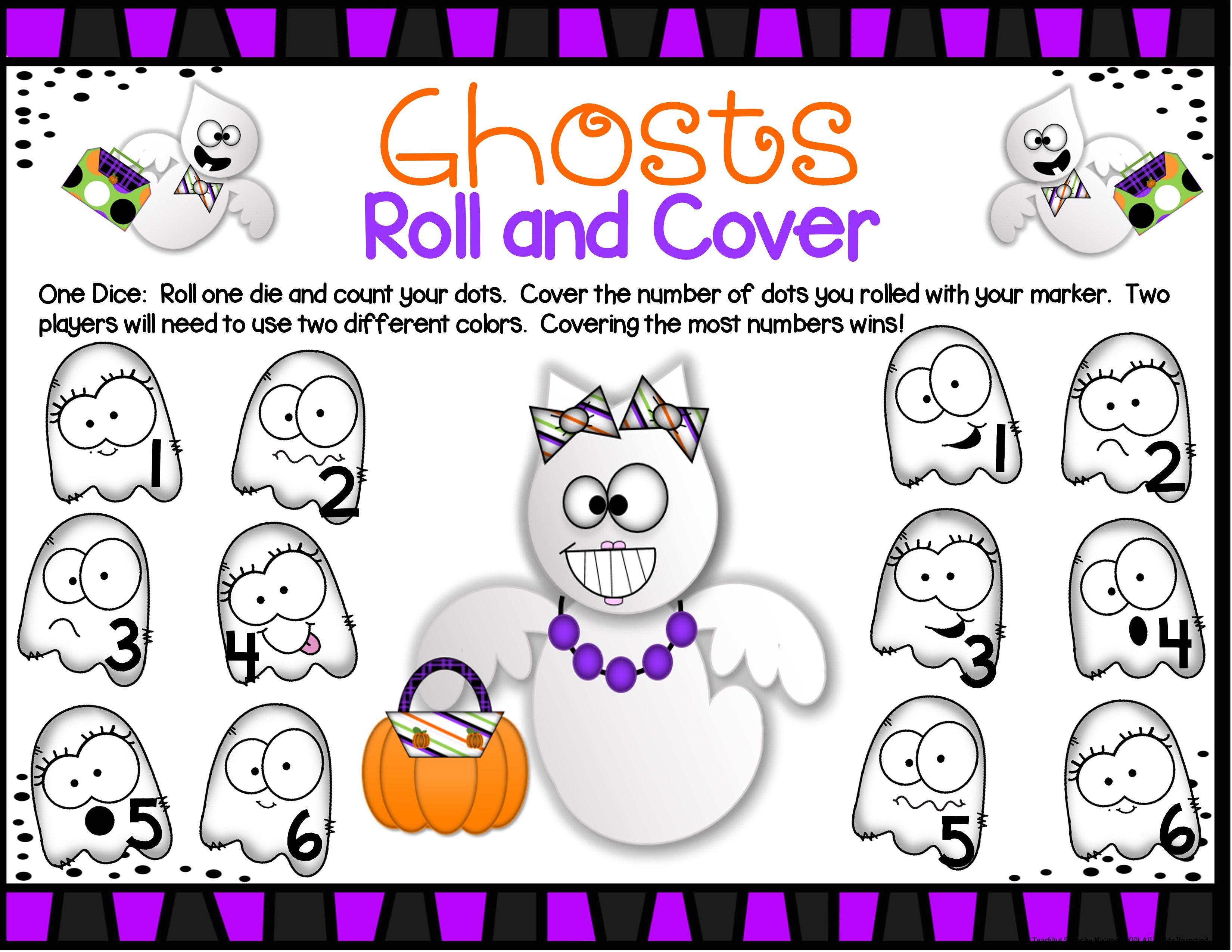 Ghosts Math Center Dice Games