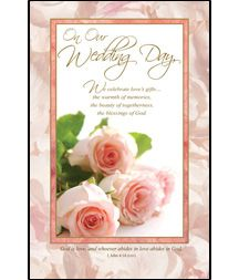 wedding bulletin on our wedding day christian wedding programs