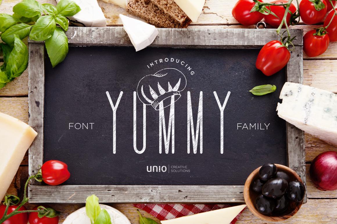"Unio   Creative Solutions presents ""Yummy - Font Family"". Shop at j.mp/yummyfont  #CreativeMarket @CreativeMarket"