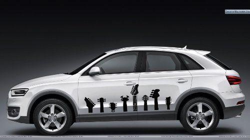 Auto Car Decals Guitar Necks For Side Decor Removable Stylish - Unique car decals stickers