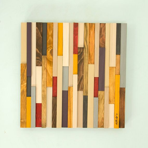 Reclaimed Wood art, reclaimed wood wall art 3D, modern, 20\
