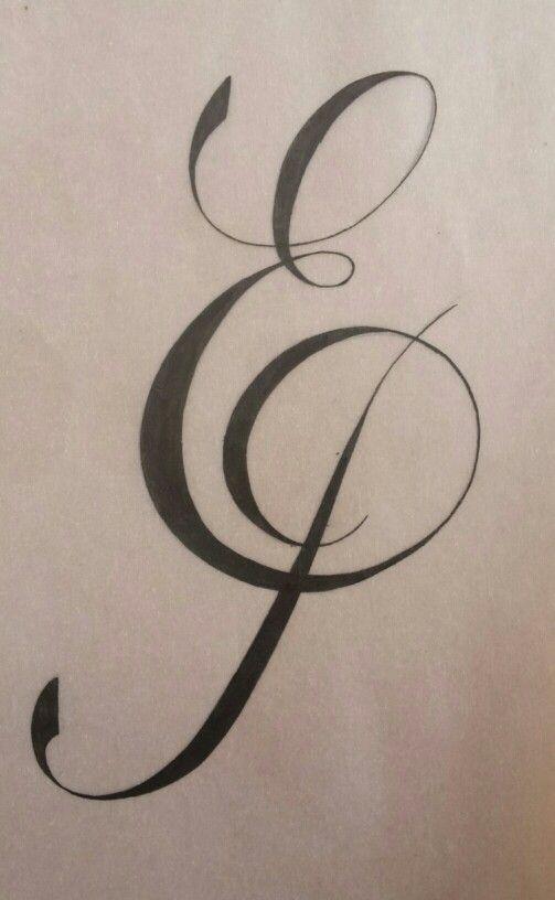 Monogram Sketch Monogram Sketch Ep Tattoo Lettering Fonts Lettering Alphabet Hand Lettering Alphabet