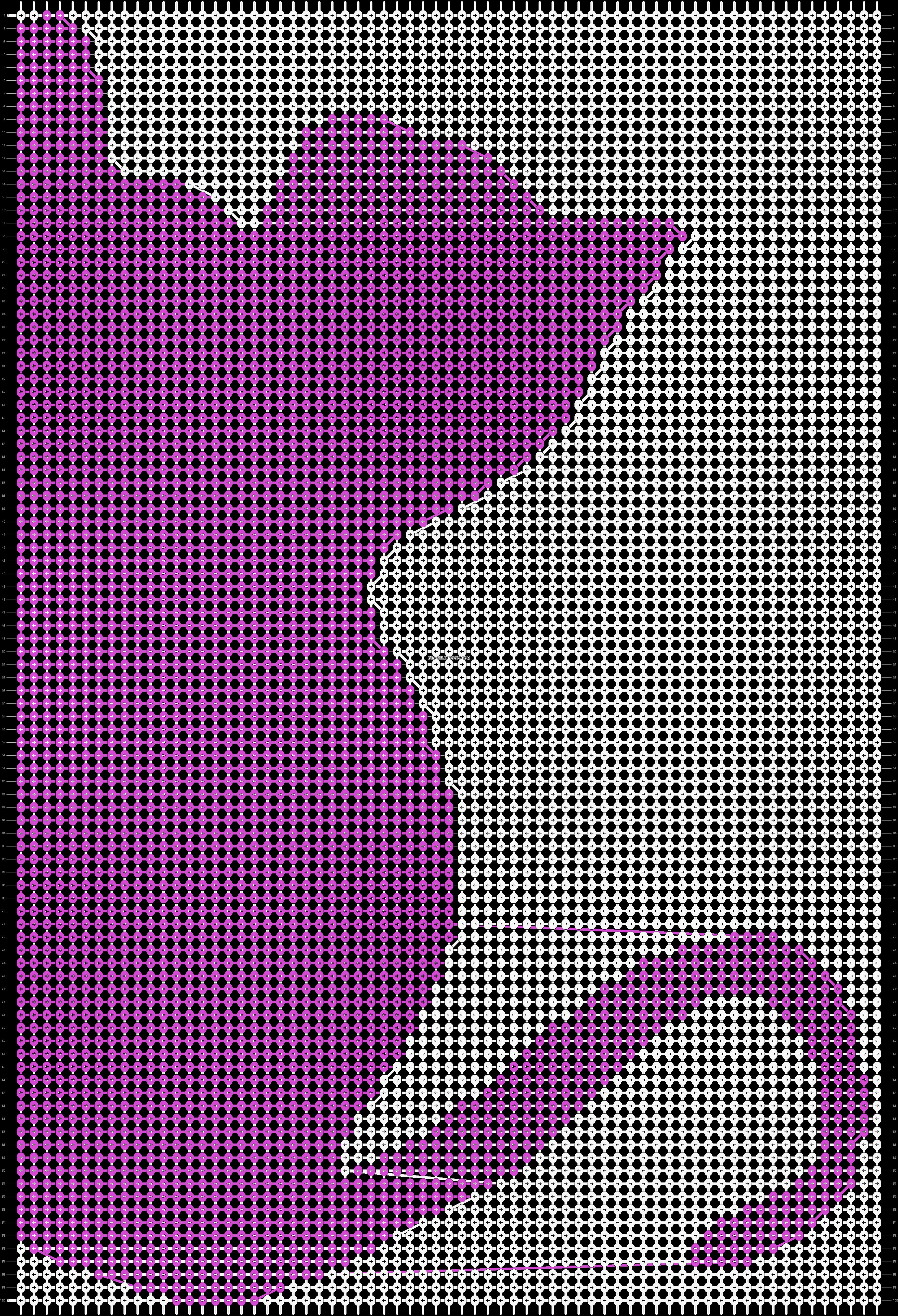 Alpha Pattern #13710 added by puppydog   Horgolás minták   Pinterest ...