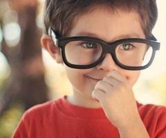 little guy, big glasses