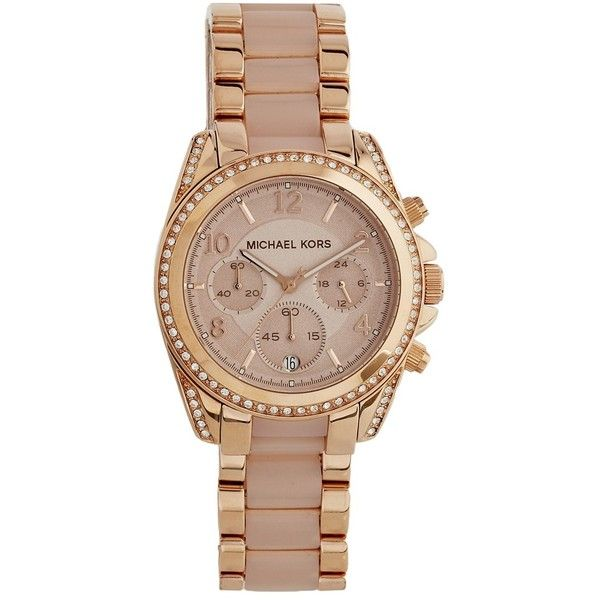 Michael Kors Blair MK5943 Rose Gold Chronograph Watch (5,160 EGP) ❤ liked on Polyvore featuring jewelry, watches, rosegold, rose gold wrist watch, chronograph watch, michael kors, rose gold chronograph watch and chronograph wrist watch