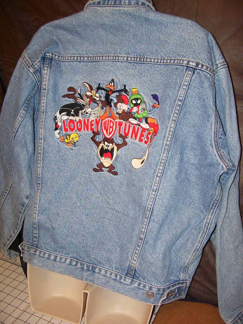 f7f0e61990 Warner Bros Studio Store Looney Tunes Denim Jacket Adult M Yosemite Sam  Elmer  12.50