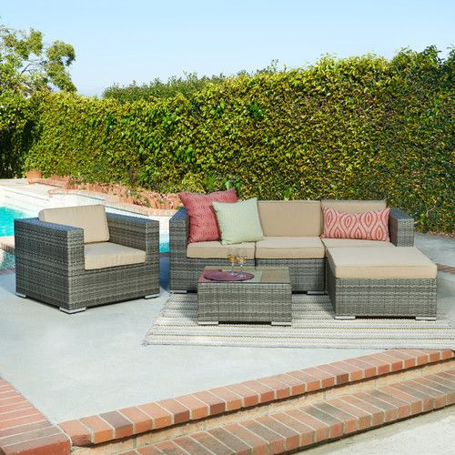 Found it at Wayfair - Azaleh 4 Piece Sectional Seating Group with ...