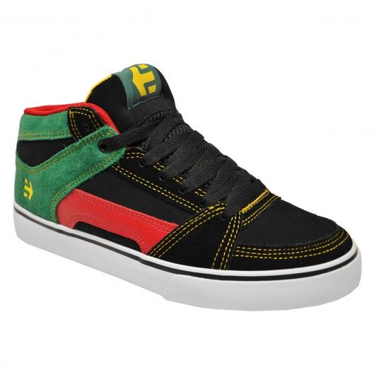 Etnies RVM BMX Shoes black yellow black rasta chaussures montantes 85€  #etnies #etniesshoes