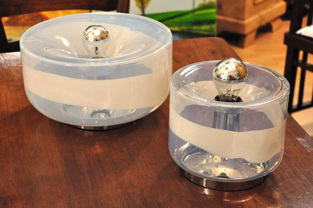 Coppia applique vetro murano design anni 70 vintage lamper muri