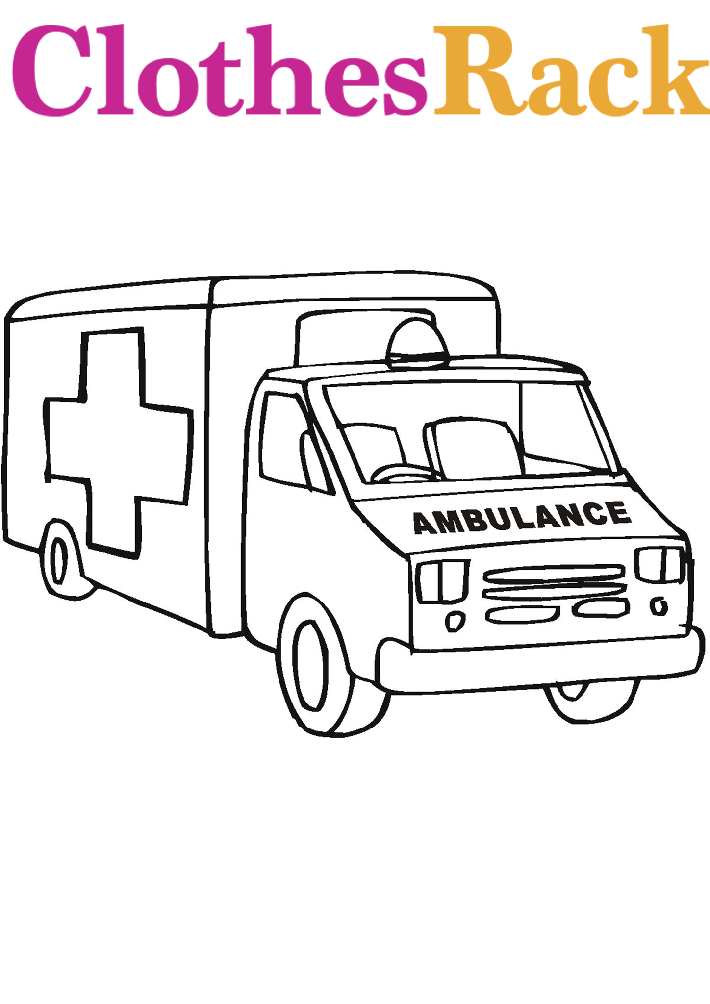 Ambulance Colouring Page Ambulance Colouring Pictures Ambulance Pictures To Colour Coloring Pages For Kids Colouring Pages Ambulance Pictures