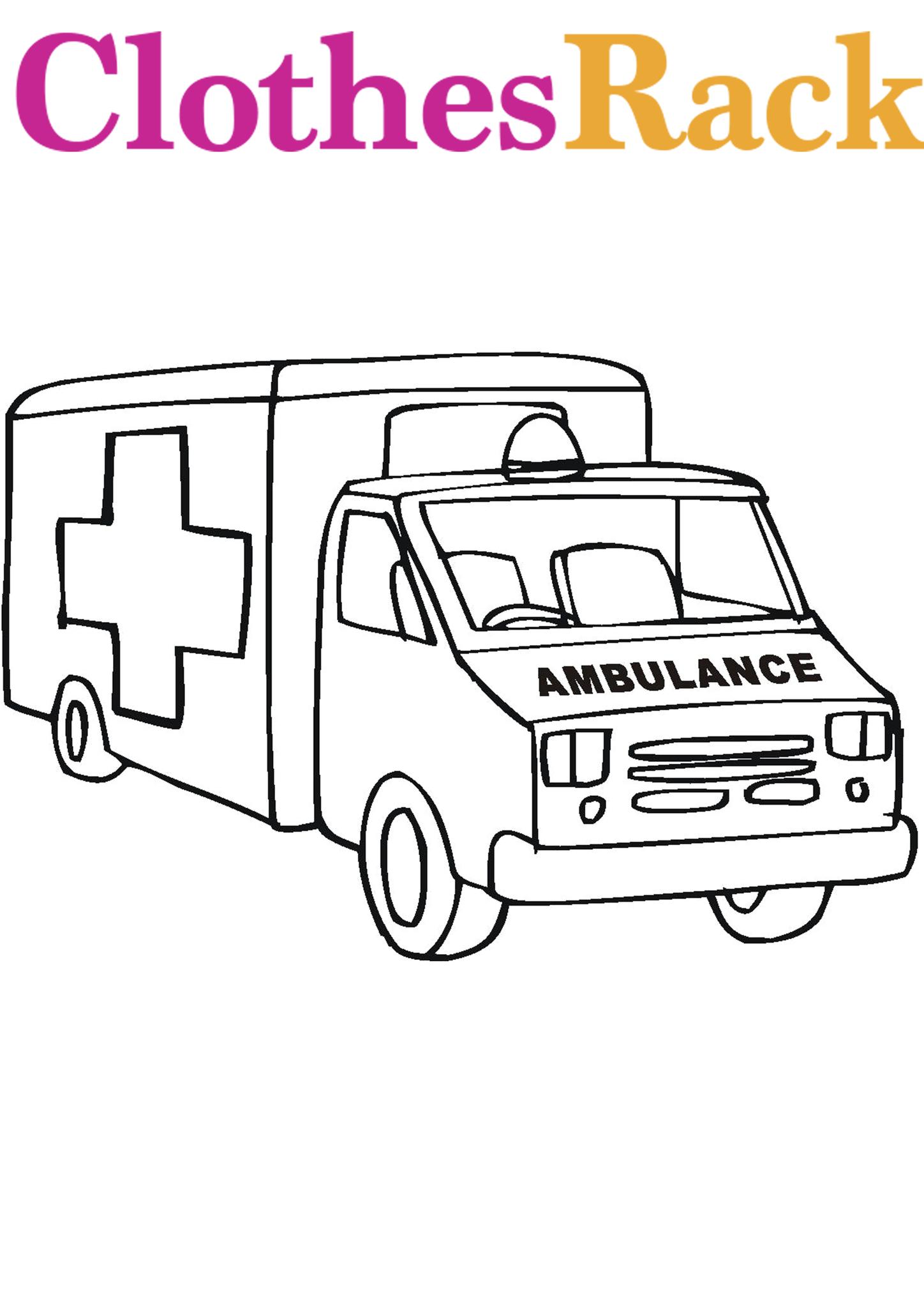 Ambulance Colouring Page Ambulance Colouring Pictures Ambulance Pictures To Colour Colouring Pages Ambulance Pictures Coloring Pages For Kids