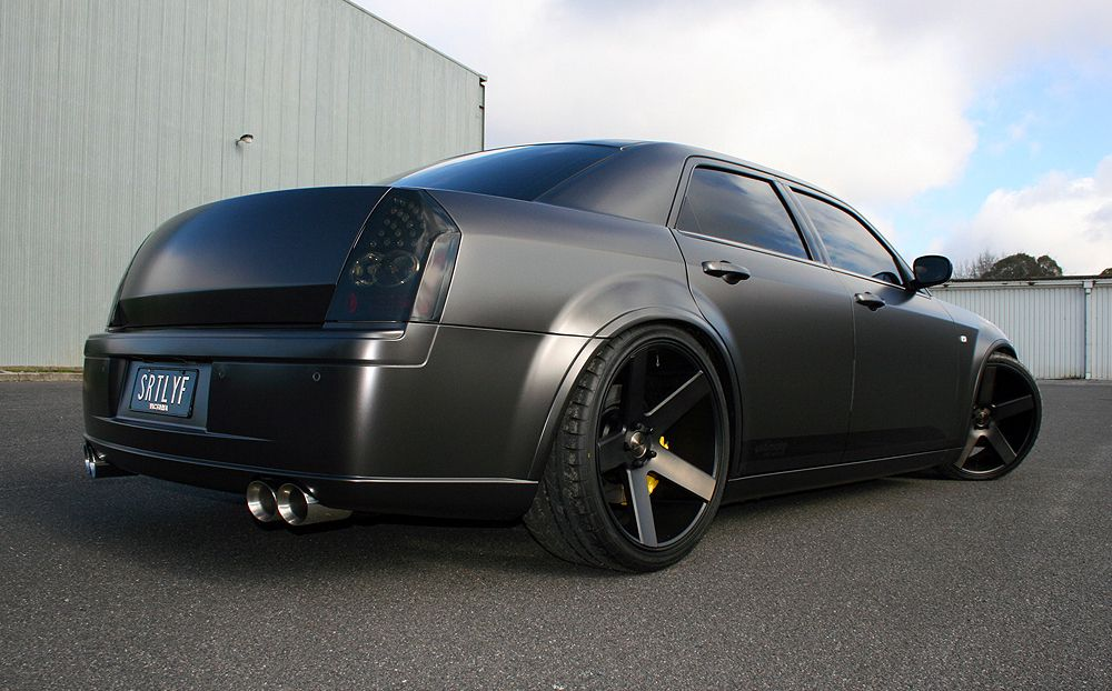 Chrysler 300c Wrapped In Avery Dennison Satin Pearl Nero Ultimate
