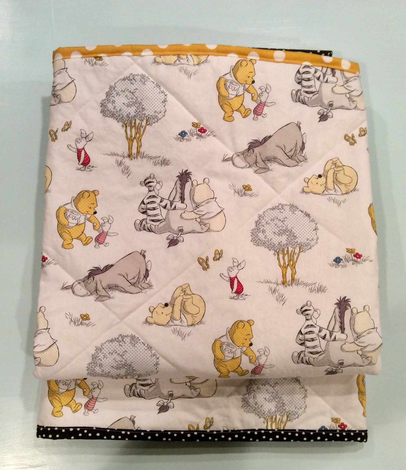WINNIE THE POOH-free Shipping-baby Quilt Baby Blanket