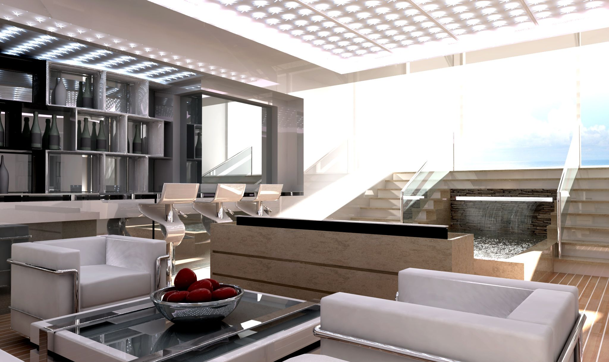 Interiors Of Luxury Yachts | PARADIGM 180 Motor Yacht Interior   PARADIGM  180 Motor Yacht Design By .