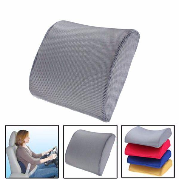 Espuma de memoria lumbar cojín de soporte para la silla de oficina ...