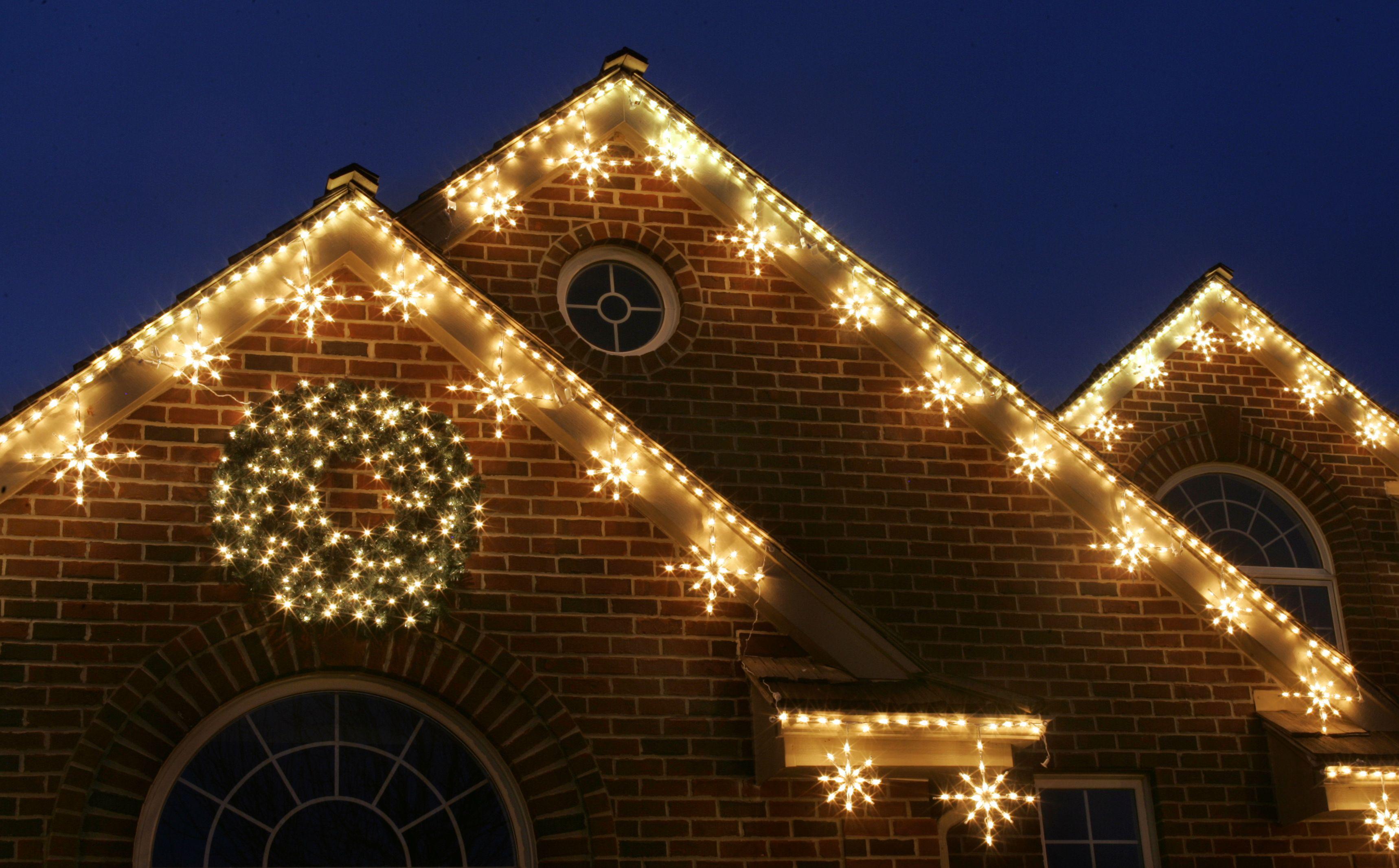 Love the snowflake lights and the additional string on white lights christmas lights aloadofball Choice Image