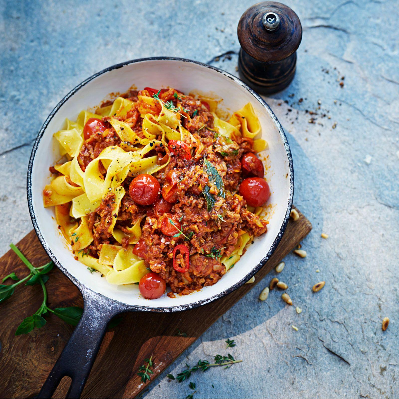 vegetarisk bolognese recept