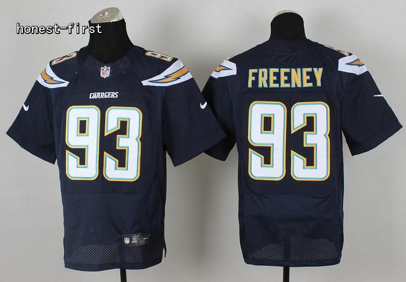 Men s NFL San Diego Chargers  93 Dwight Freeney Dark Blue Elite Jersey 7888b398f