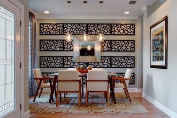 Formal dining room with a modern dramatic impression m i homes