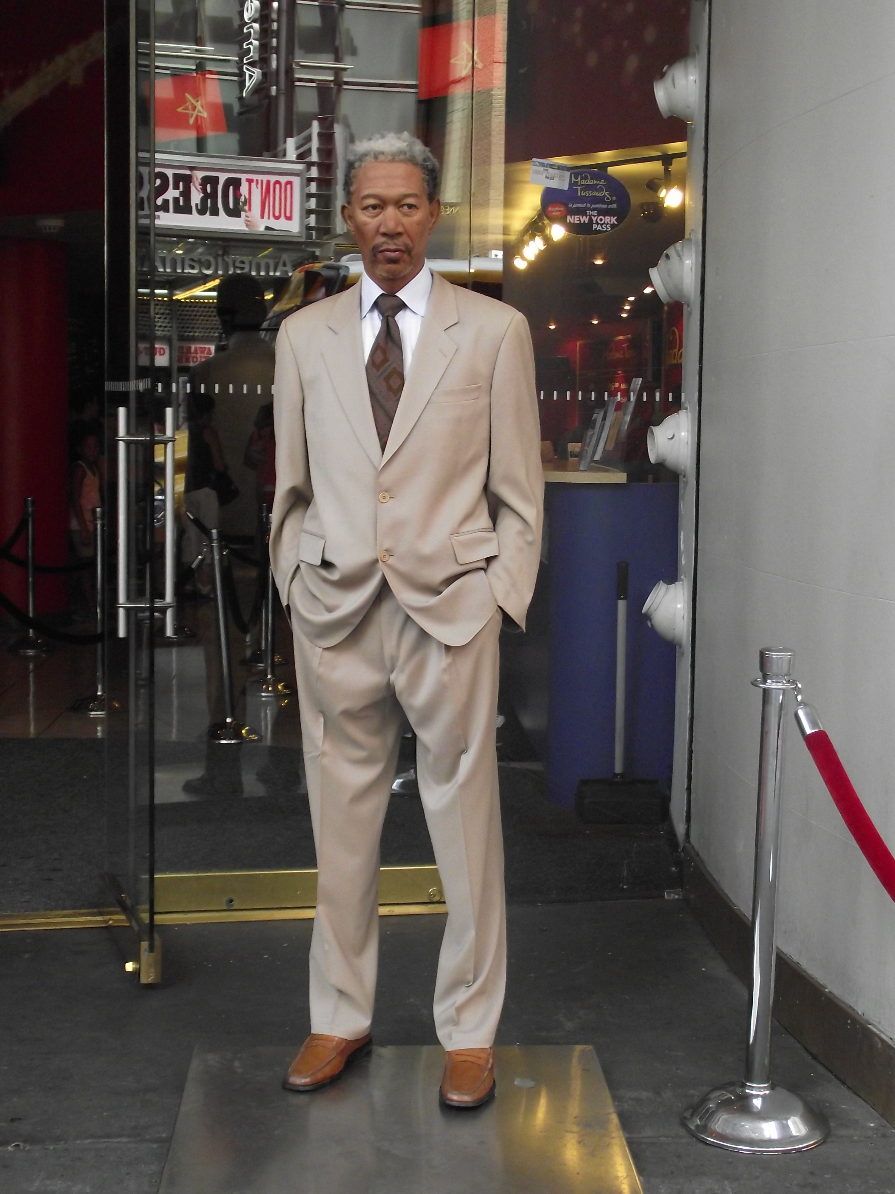 Madame Tussauds NYC Times Square - Morgan Freeman===cannot