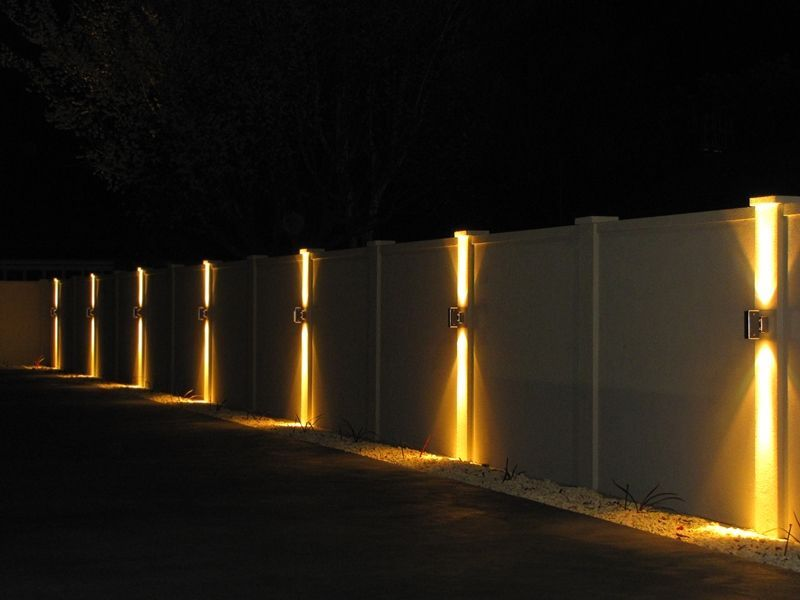 Letterboxes and lighting modular walls boundary walls front fences feature walls - Intriguing contemporary outdoor lighting fixtures for more attractive exterior ...