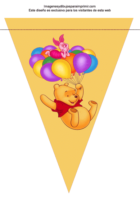 659b6cf59 Banderin de winnie the pooh para cumpleaños ,lo sabes le encanta winnie the  pooh y quieres darle una gran sorpresa, decorar el lugar del cu.
