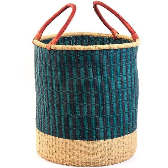 African Baskets: High/Low Woven Laundry Basket