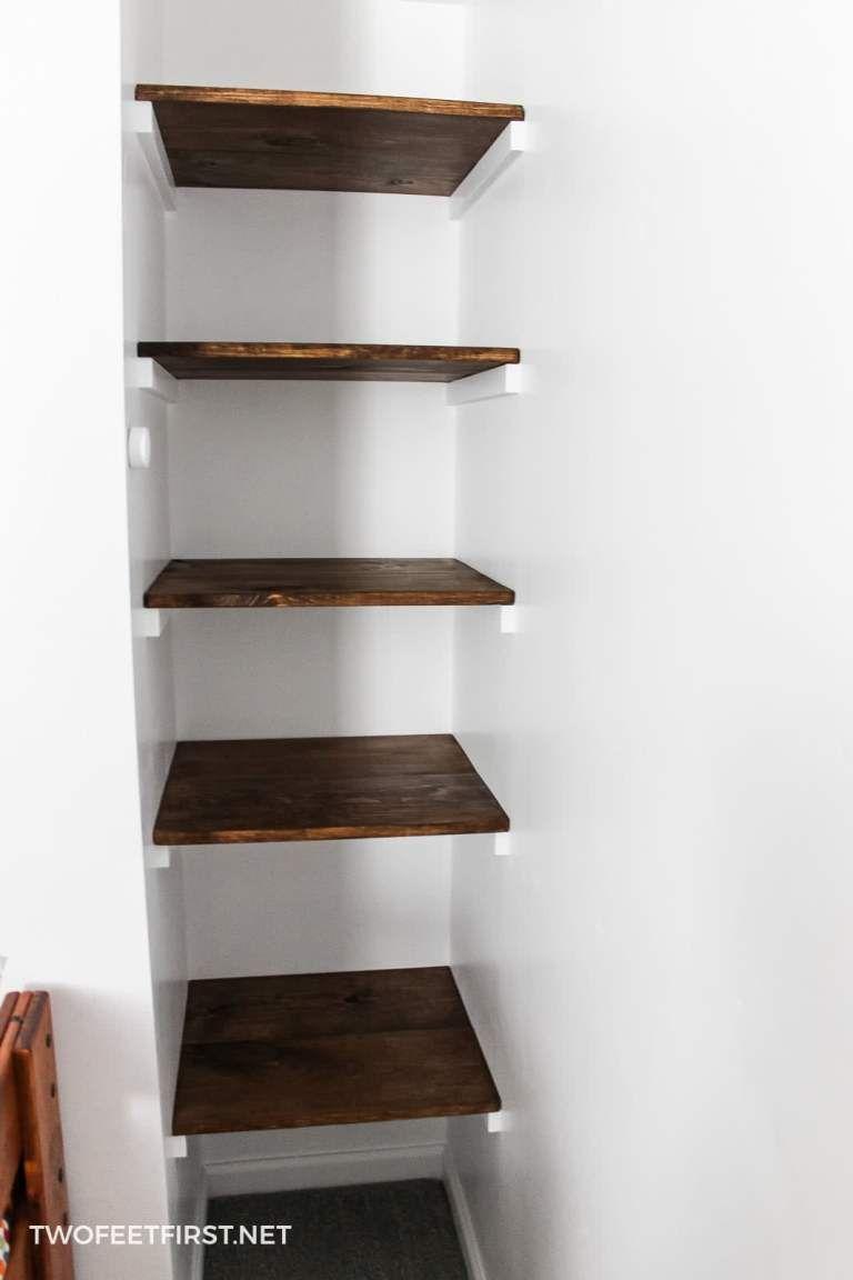 Build A Simple Wall To Wall Shelves Diy Home Bar Shelves Home Organization Wall