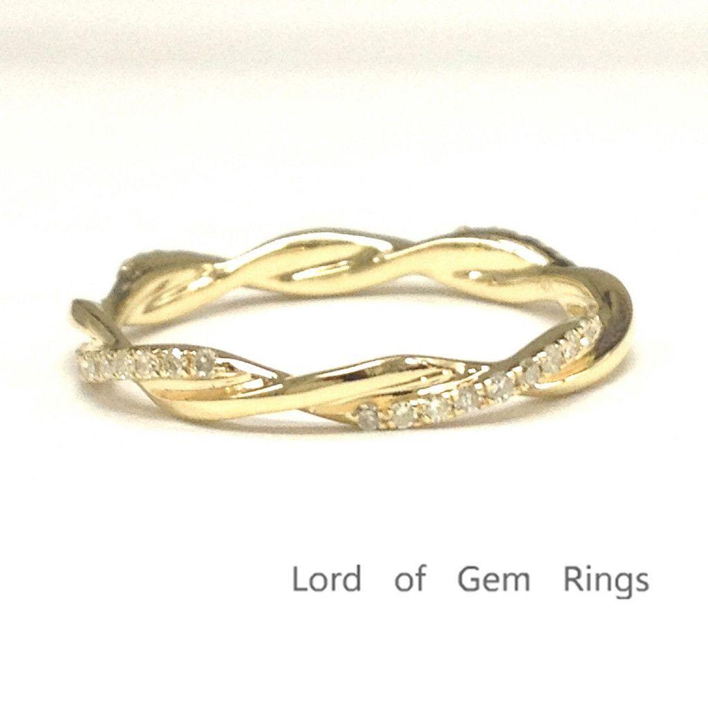 $368 Pave Diamond Wedding Band Eternity Anniversary Ring ...