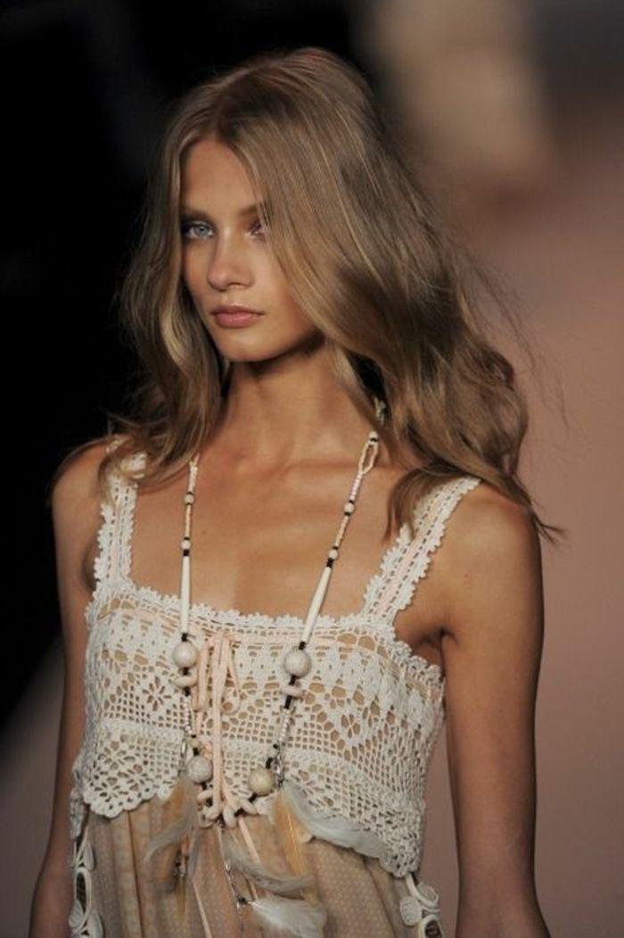 Modele couleur cheveux blond fonce