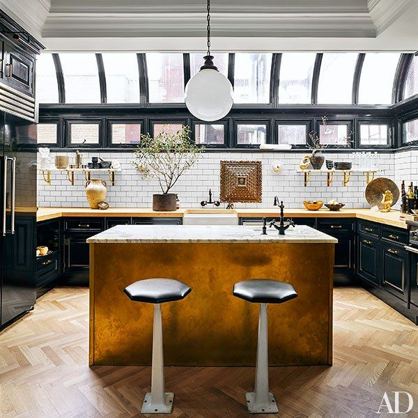 nate berkus and jeremiah brent share their new york city apartment and daughter poppys nursery jeremiah brentblack cabinetspainted kitchen - Kitchen Cabinets New York City