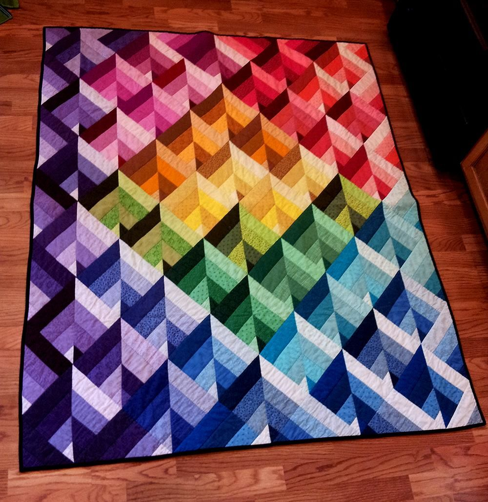 Color gradation plan. myb | Quilted Jellly Rolls | Pinterest ... : 3d quilt designs - Adamdwight.com