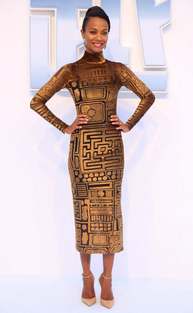 Longue vie et prospérité de Fashion Police On doit féliciter Zoe Saldana de  s être b94a8e2c646