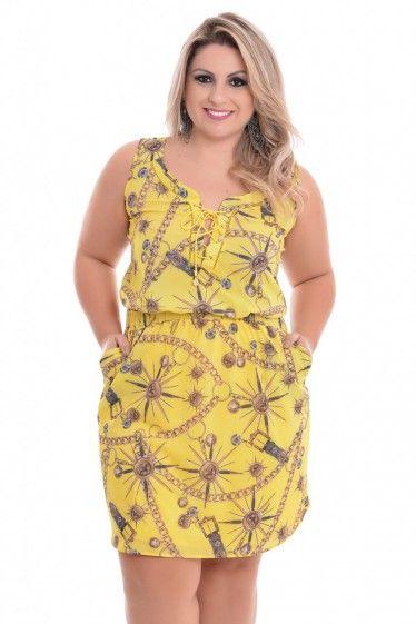 c27f53994 Vestido Plus Size Belíssima | modelagem | Vestidos, Vestidos casuais ...