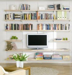 String shelving system tv google search home living - Shelves design for living room ...