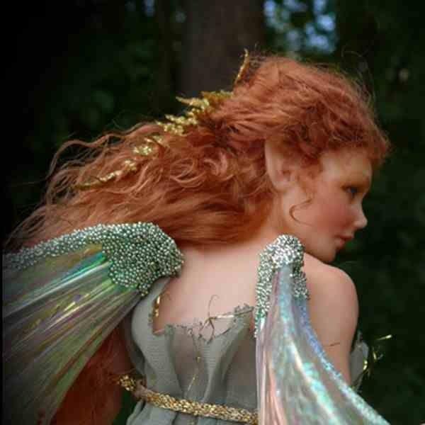 green fairy  fairy art dolls fairy dolls fantasy doll