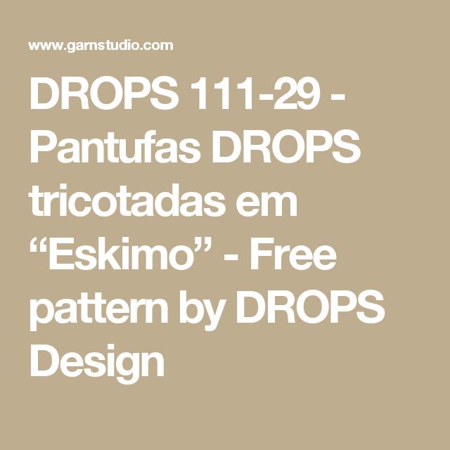 "DROPS 111-29 - Pantufas DROPS tricotadas em ""Eskimo"" - Free pattern ..."