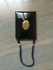 Vintage Demi Purse Mondaine Vanity Book Dual Compact Dance Purse Art Deco 1930's