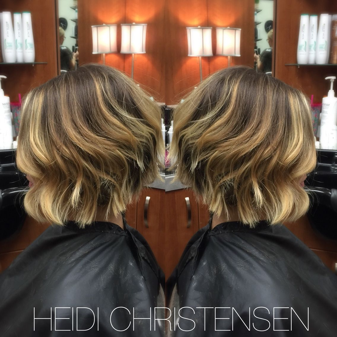 Textured short messy hair with flat iron curls Hair