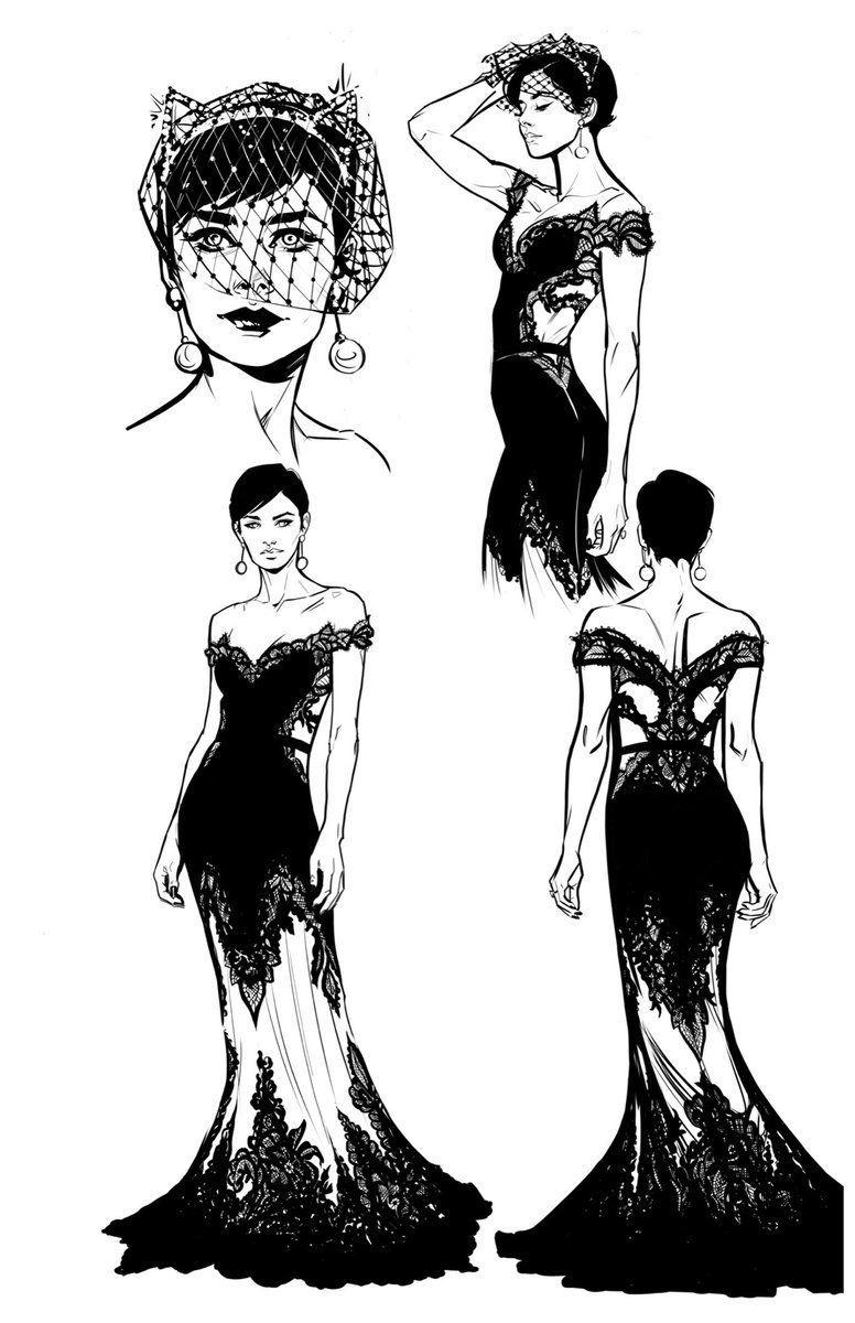 Selina Kyle wedding dress designs by Joëlle Jones (x) | art