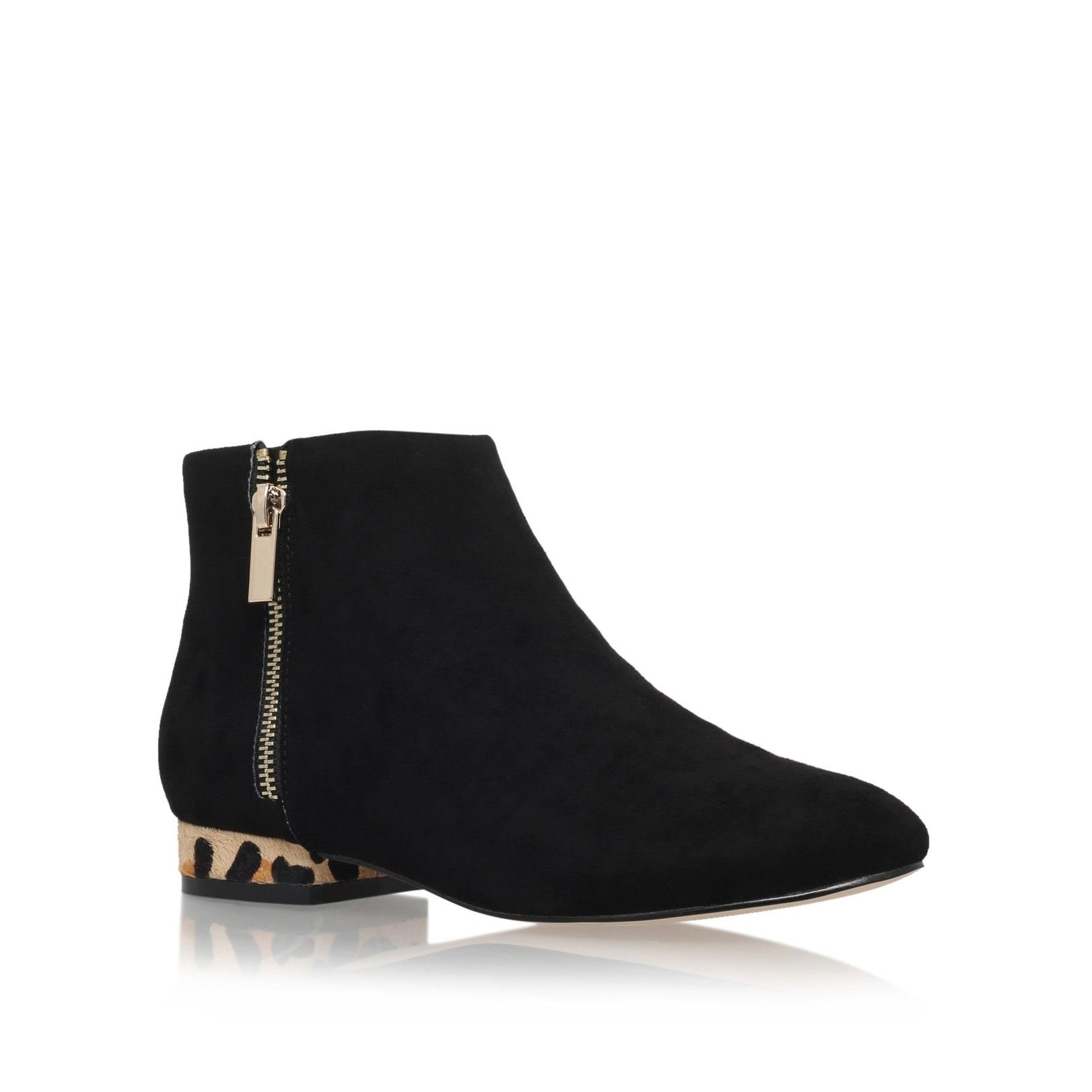 SOHO Black Low Heel Ankle Boots by Miss KG | Kurt Geiger | Kurt ...
