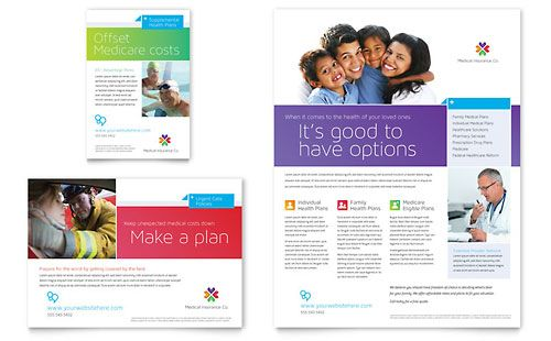 Medical Insurance Flyer Ad Template Design – Health Brochure Template
