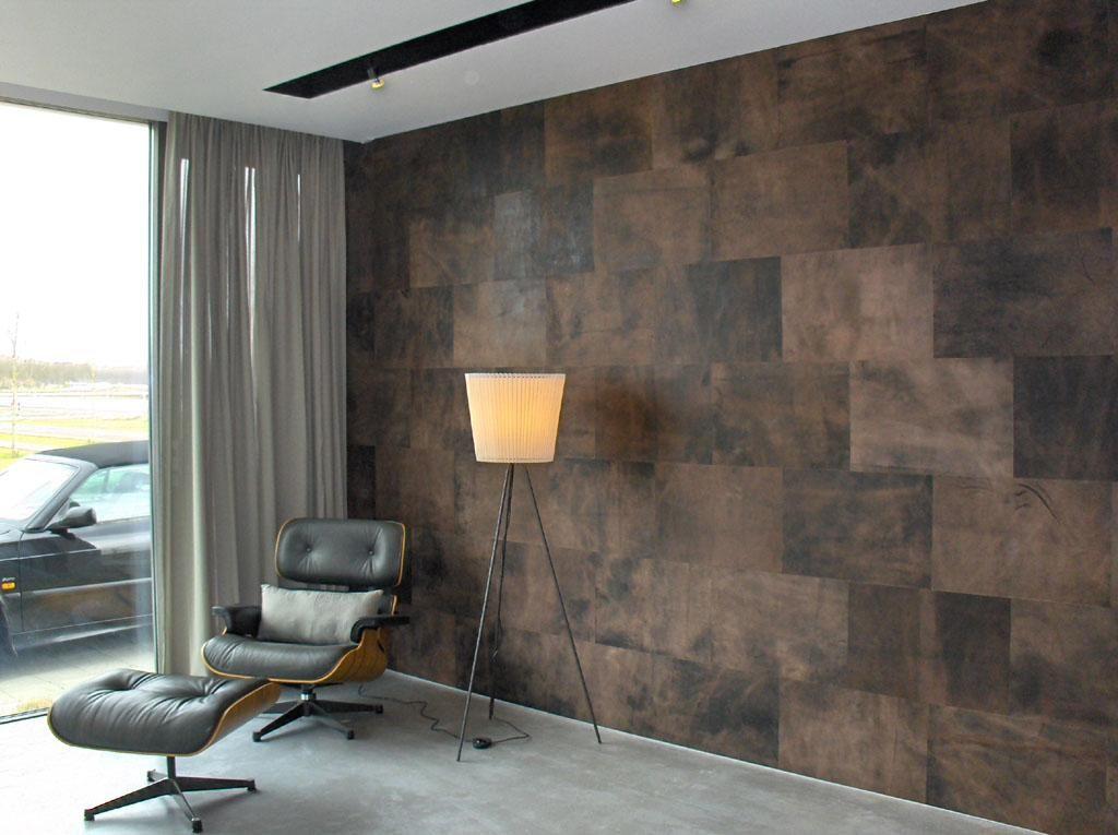 Lederen wand woonkamer interieur pinterest leren wand bekleding en huiskamer - Eetkamer roche bobois ...