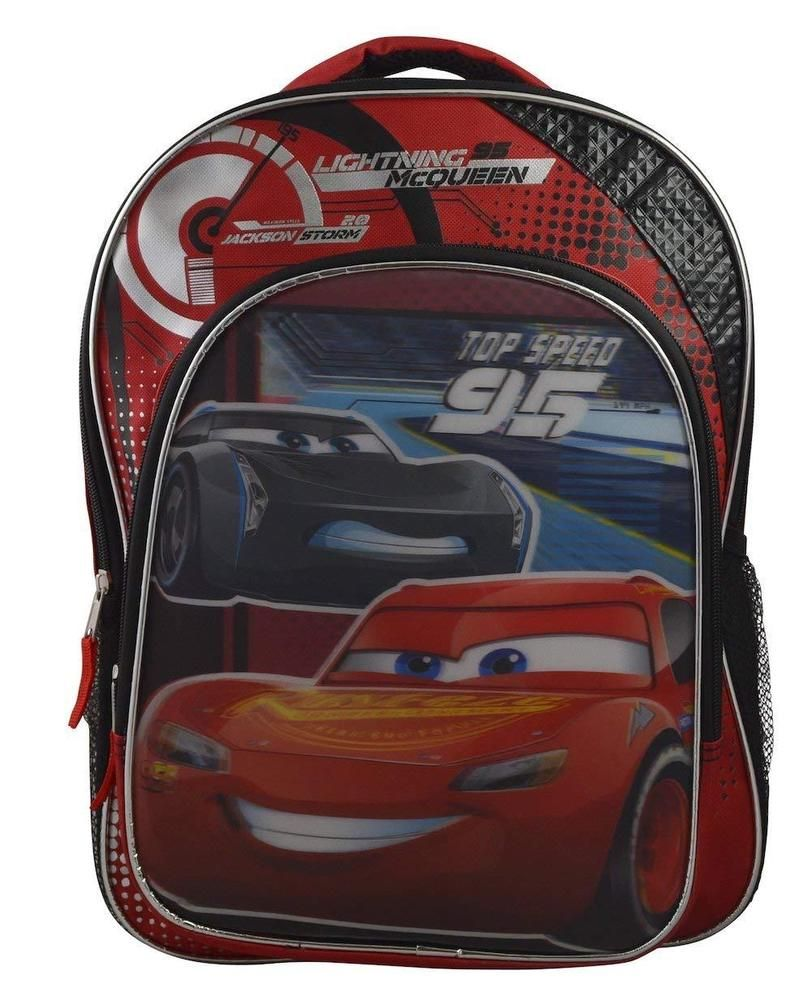 919aa14dc06 Disney Cars 3 Lightning McQueen and Storm Lenticular 16 inch School Backpack   TommyHilfiger  Backpack  disney  lightningmcqueen