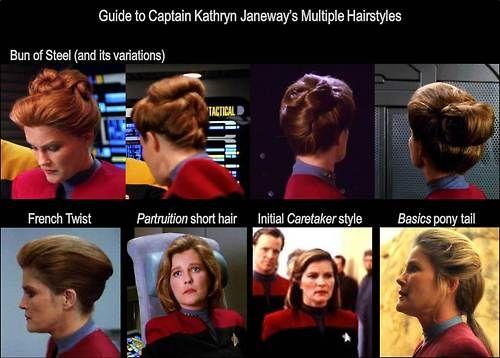 Kathryn Janeway Bun Google Search Raumschiff Voyager Frisuren Raumschiff